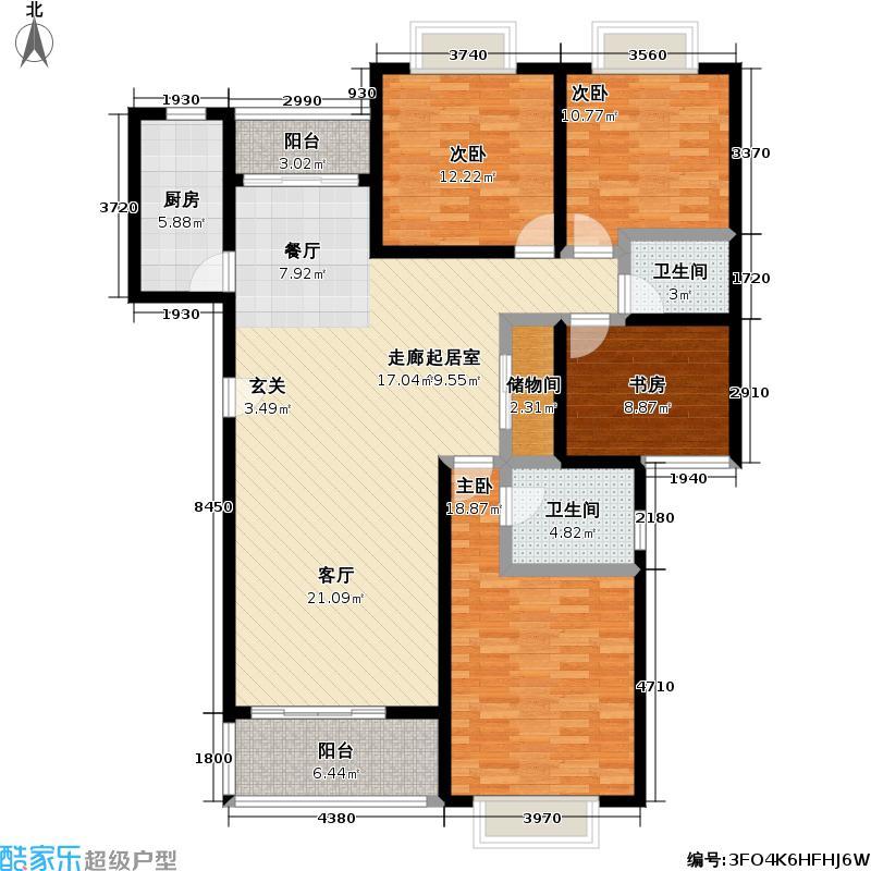 森安阳城143.73㎡房型: 四房; 面积段: 143.73 -150.8 平方米; 户型