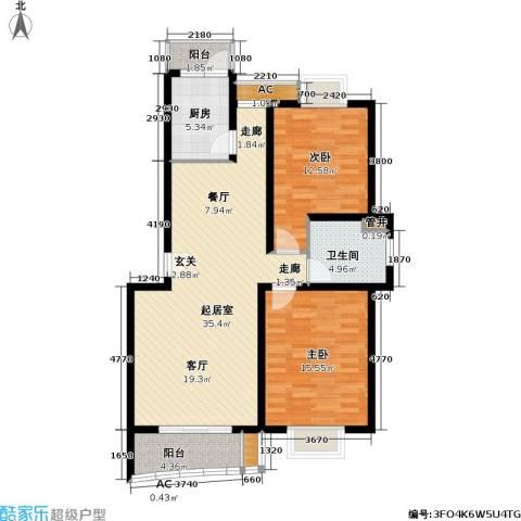 浣纱雅苑2室0厅1卫1厨94.00㎡户型图