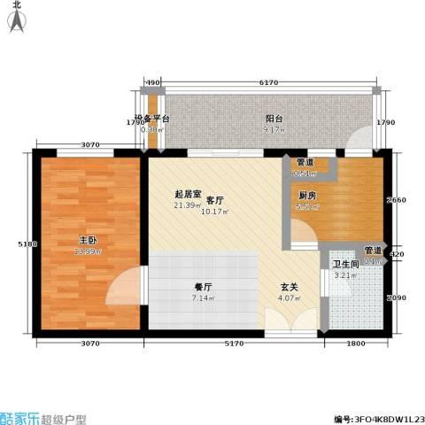 东丽温泉家园1室0厅1卫1厨63.00㎡户型图