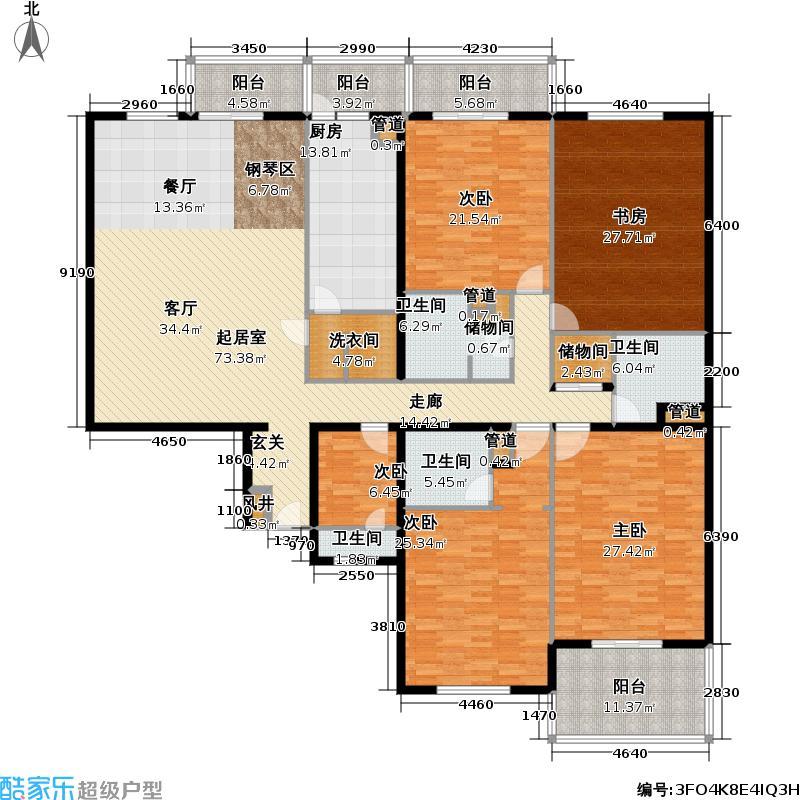 雅宝公寓279.00㎡4室-2厅-1卫-1厨户型