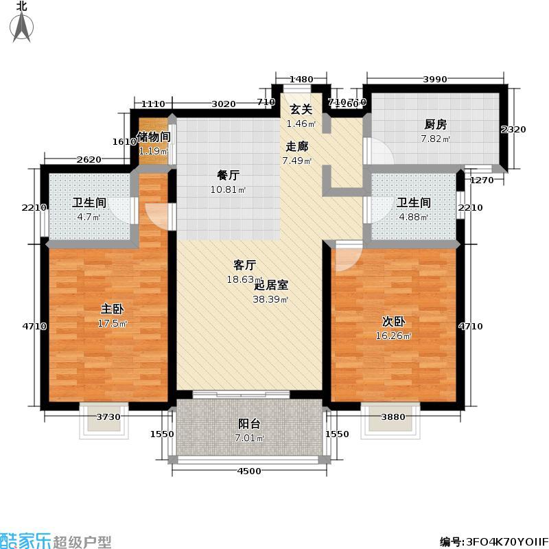 黄兴花园77.23㎡房型: 二房; 面积段: 77.23 -112 平方米; 户型