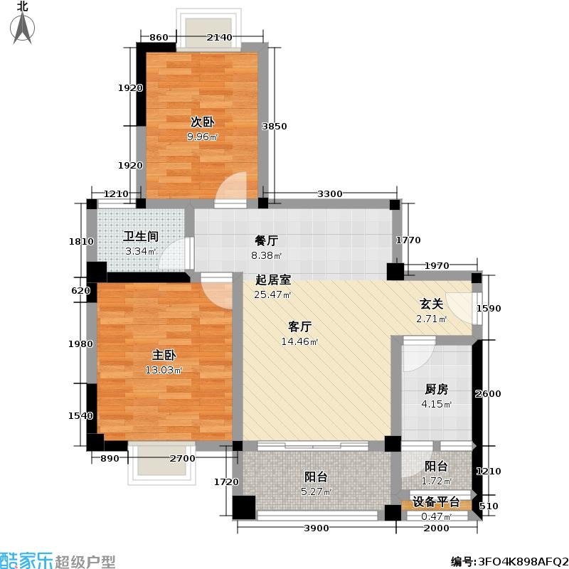 海岸郁金香花园1234#楼A户型