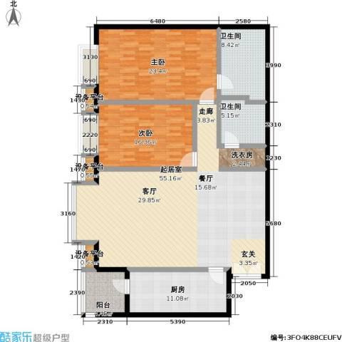 世纪豪景2室0厅2卫1厨142.00㎡户型图