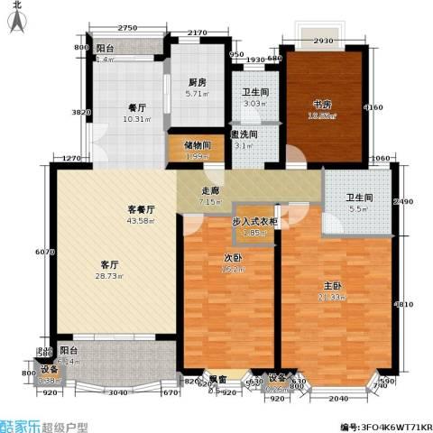 东苑世纪名门花园3室1厅2卫1厨135.00㎡户型图