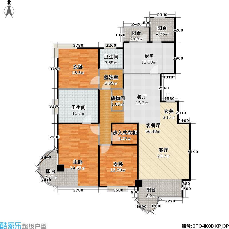 大上海国际花园三期161户型