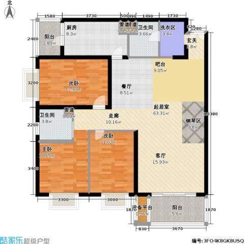 明日嘉园2室0厅2卫1厨160.00㎡户型图