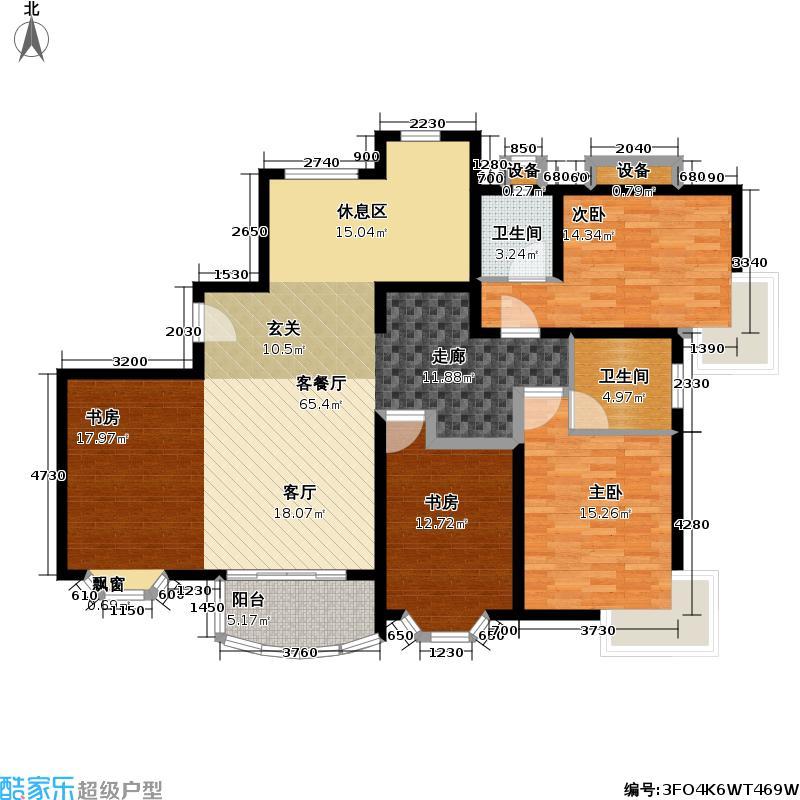 东苑绿世界III房型户型3室1厅2卫