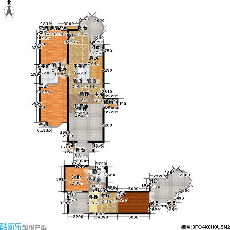 裕龙花园5区221.56㎡B5户型4室3厅3卫户型