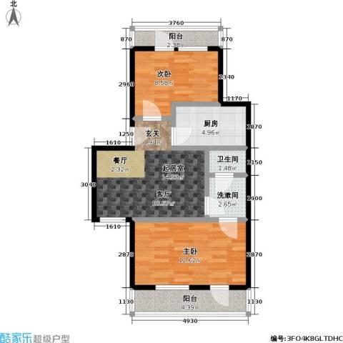 康泽园2室0厅1卫1厨68.00㎡户型图