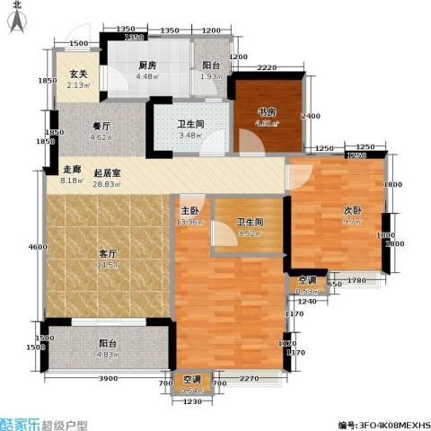 寓乐圈 永缘・寓乐圈3室0厅2卫1厨78.00㎡户型图