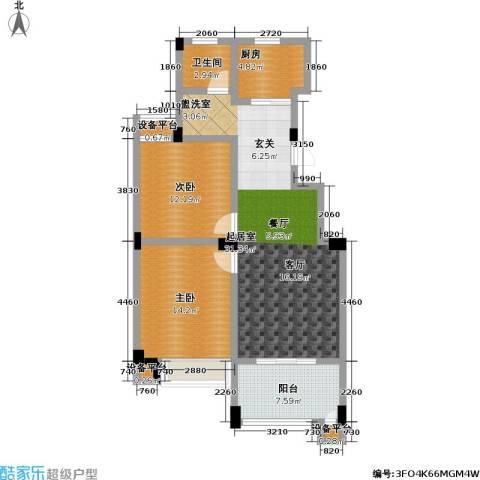 金色领寓2室0厅1卫1厨87.00㎡户型图