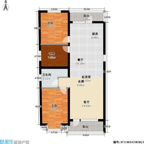 滨洲华府3室0厅1卫0厨110.00㎡户型图