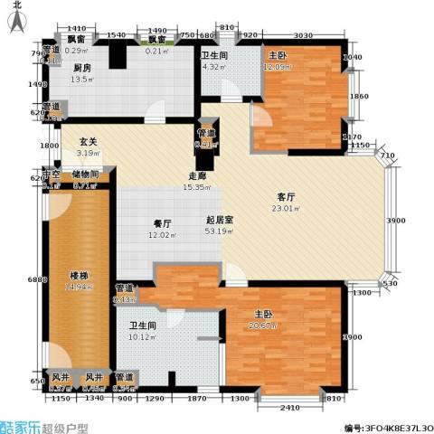 贡院六号2室0厅2卫1厨150.00㎡户型图