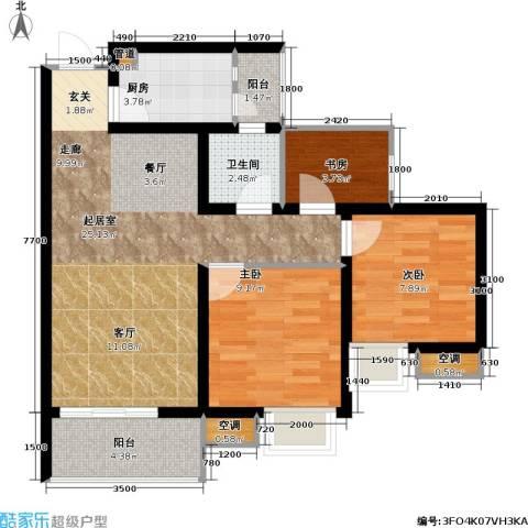 寓乐圈 永缘・寓乐圈3室0厅1卫1厨65.00㎡户型图