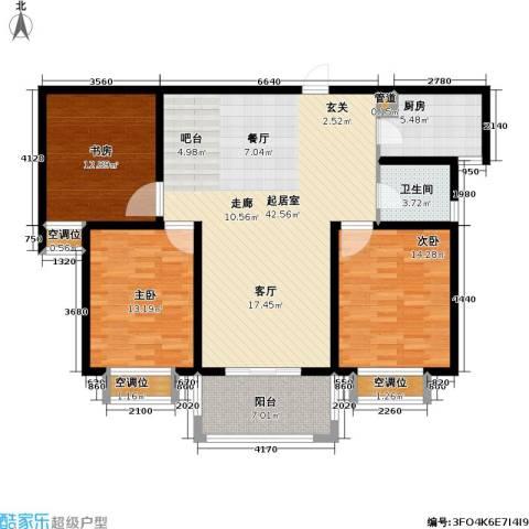 和平国际3室0厅1卫1厨146.00㎡户型图