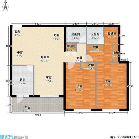 芳城园2室0厅2卫1厨132.00㎡户型图