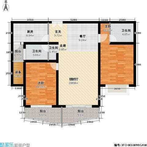 联洋新苑2室1厅2卫1厨113.00㎡户型图