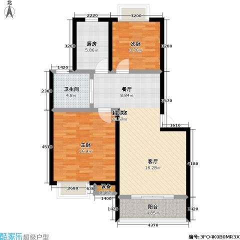 天鹅湖花园2室0厅1卫1厨79.00㎡户型图