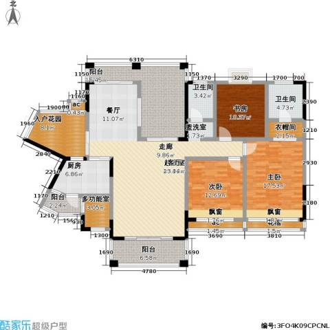爱加・西西里 爱加 西西里3室0厅2卫1厨142.35㎡户型图