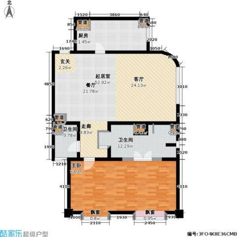 贡院六号1室0厅2卫1厨130.00㎡户型图