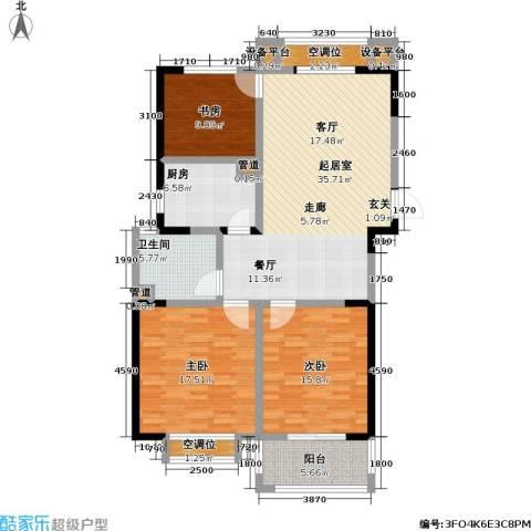 和平国际3室0厅1卫1厨116.00㎡户型图