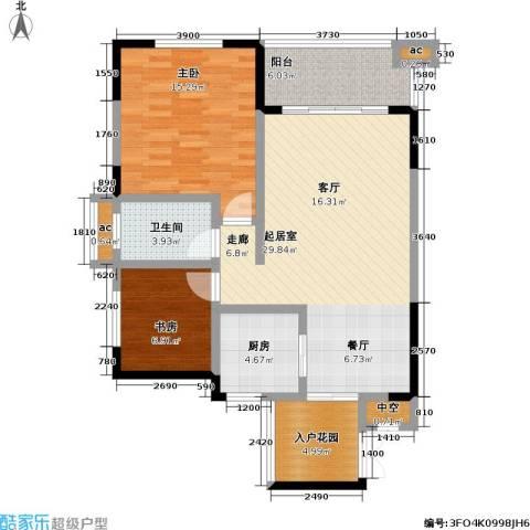 爱加・西西里 爱加 西西里2室0厅1卫1厨74.00㎡户型图