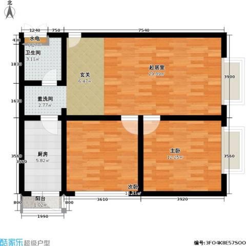 官苑八号2室0厅1卫1厨94.00㎡户型图