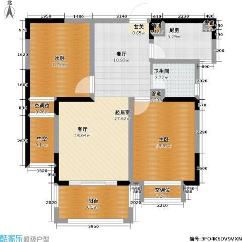 和平国际2室0厅1卫1厨88.00㎡户型图