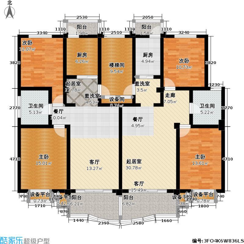 北美公寓三期94.00㎡房型: 二房; 面积段: 94 -110 平方米; 户型