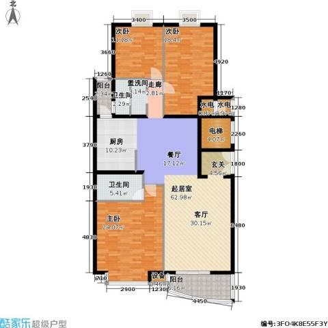官苑八号3室0厅2卫0厨176.00㎡户型图
