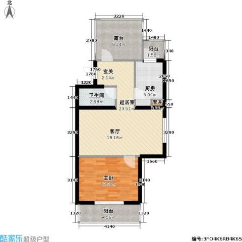幸福东园1室0厅1卫1厨66.00㎡户型图