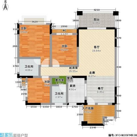 爱加・西西里 爱加 西西里3室0厅2卫1厨132.00㎡户型图