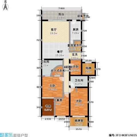 国展家园5室0厅3卫1厨198.00㎡户型图
