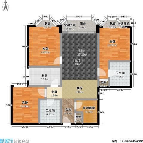新磁器 青春坐标 新景家园2期 新景家园2期3室0厅2卫1厨104.98㎡户型图