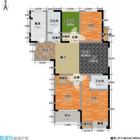 天成花园3室0厅2卫1厨138.00㎡户型图