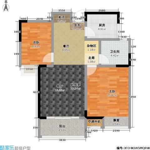 天成花园2室0厅1卫1厨86.00㎡户型图