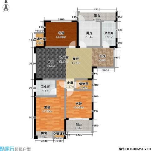 天成花园3室0厅2卫1厨128.00㎡户型图