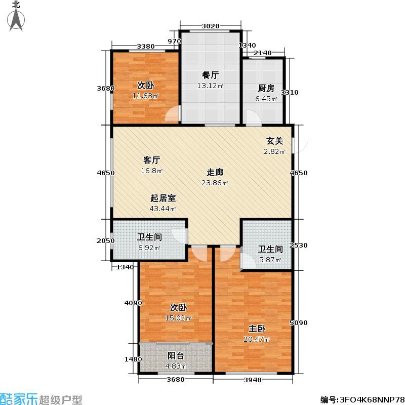 东方公园世家136.00㎡东方公园世家户型图6-A(2/8张)户型10室