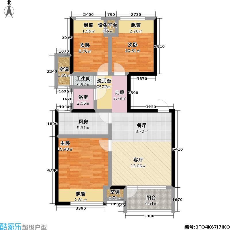 万科金色城品万科金色城品户型图3C户型(30/32张)户型10室