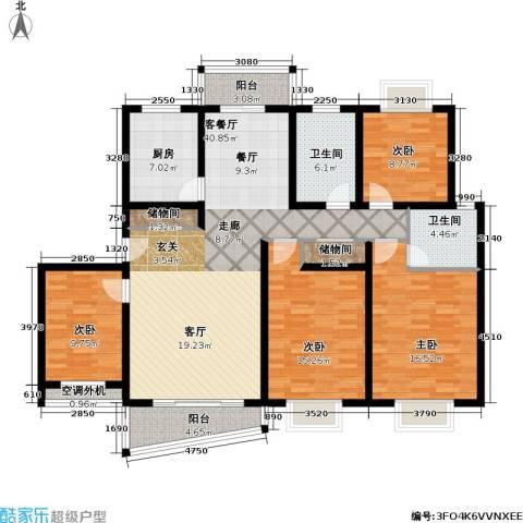 月泉湾名邸4室1厅2卫1厨139.00㎡户型图