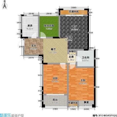 天成花园2室0厅1卫1厨110.00㎡户型图