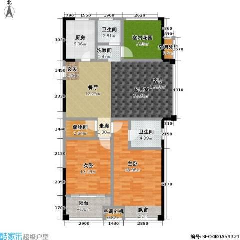天成花园2室0厅2卫1厨121.00㎡户型图