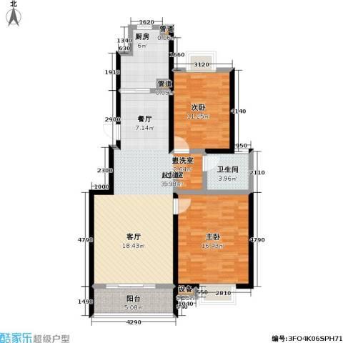 天鹅湖花园2室0厅1卫1厨90.00㎡户型图