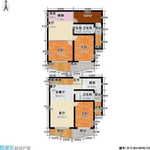 联洋新苑4室1厅2卫1厨183.00㎡户型图