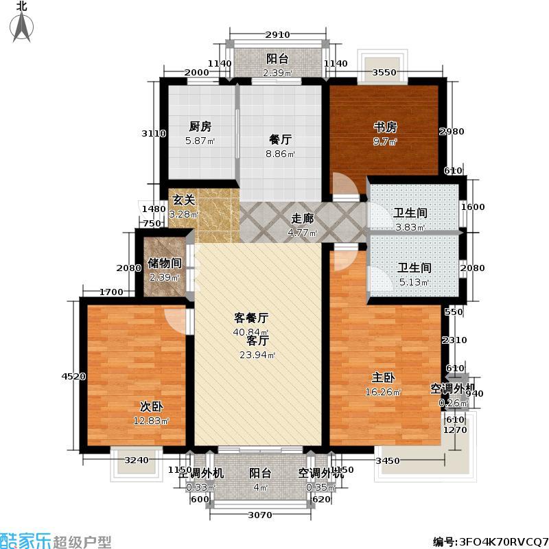 龙缘花园129.34㎡房型: 三房; 面积段: 129.34 -129.34 平方米;户型