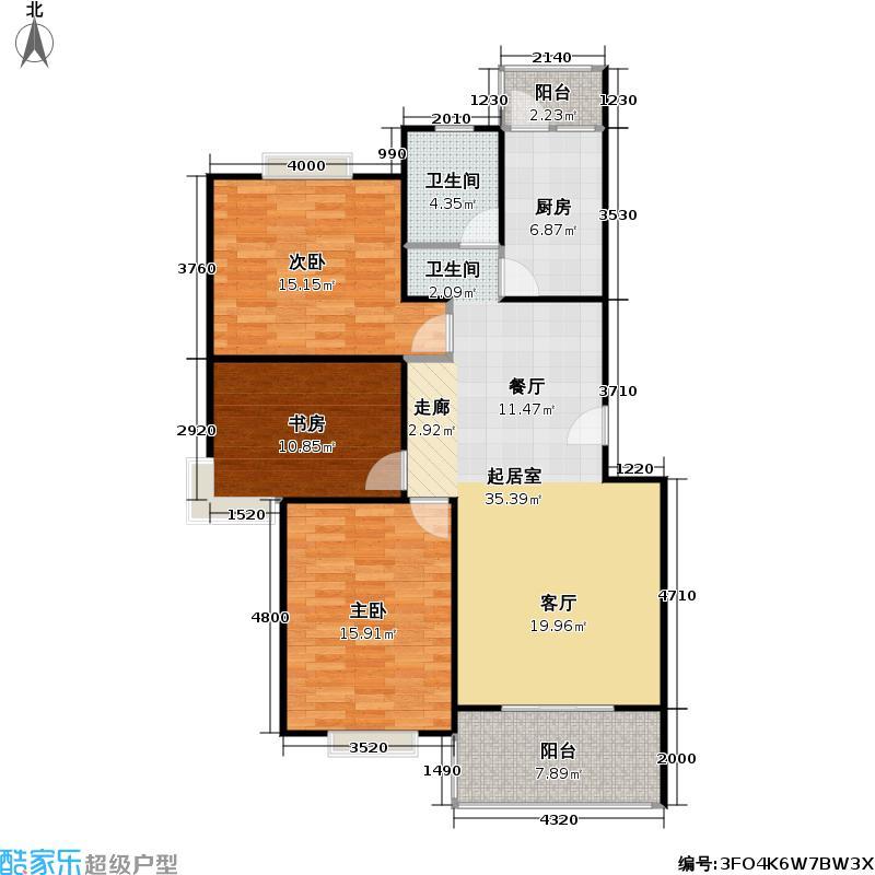 瑞和家园105.92㎡房型: 三房; 面积段: 105.92 -131.41 平方米;户型
