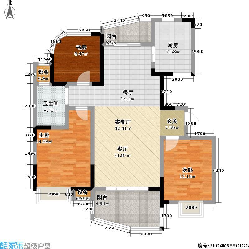 天翼御品117.00㎡天翼御品户型图天翼御品C1户型3室2厅1卫(3/6张)户型3室2厅1卫