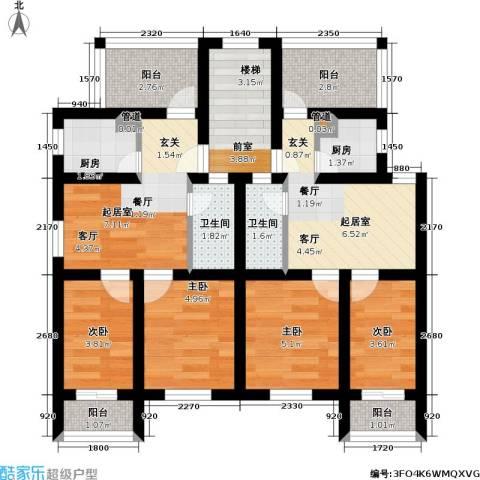 恒大华城东林苑4室0厅2卫2厨63.00㎡户型图
