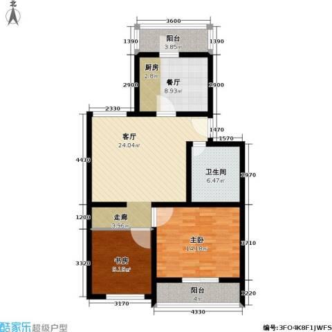 康庄住宅小区2室2厅1卫0厨82.00㎡户型图