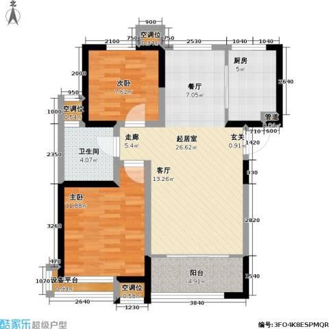 卓达・太阳城2室0厅1卫1厨86.00㎡户型图